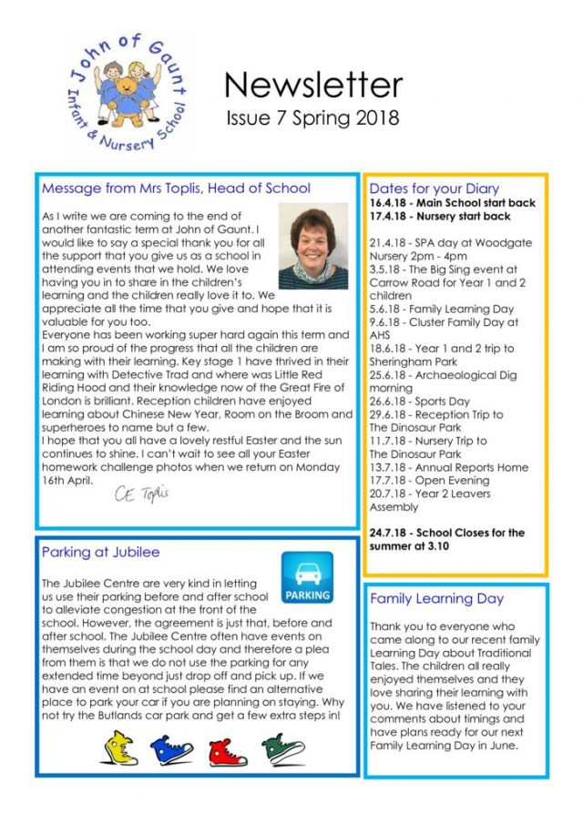 thumbnail of JOG Spring 18 Newsletter No 7