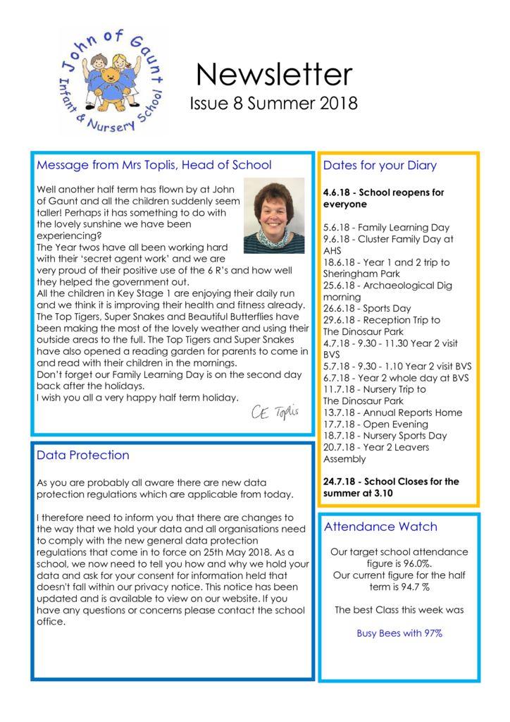thumbnail of JOG Summer 18 Newsletter No 9