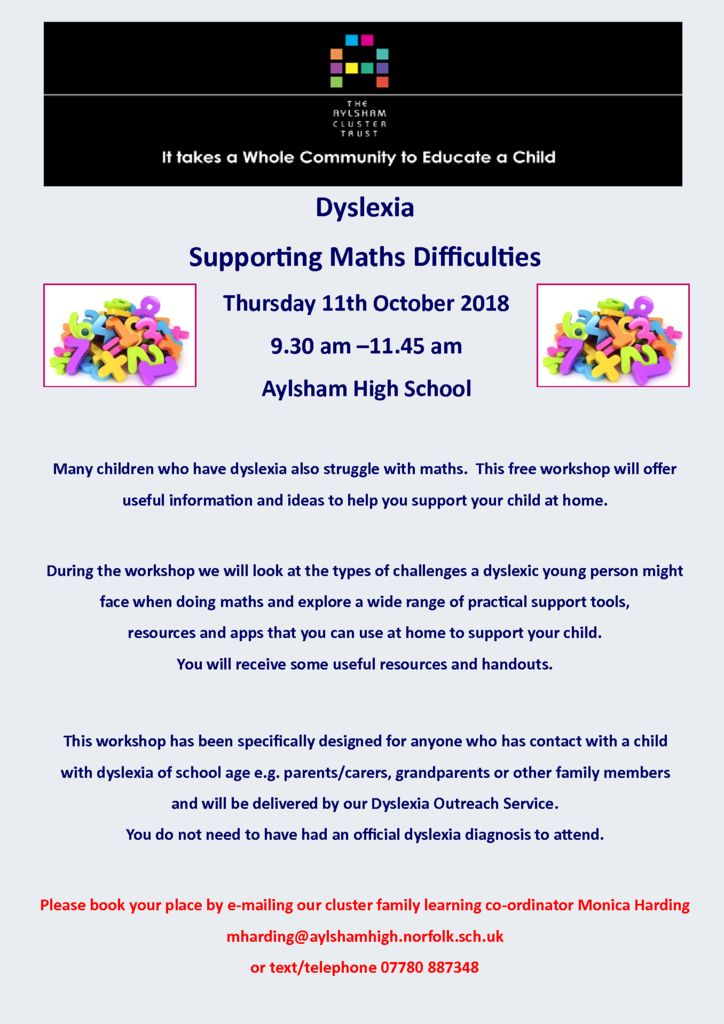 thumbnail of Dyslexia supporting maths difficulties 11th October 2018