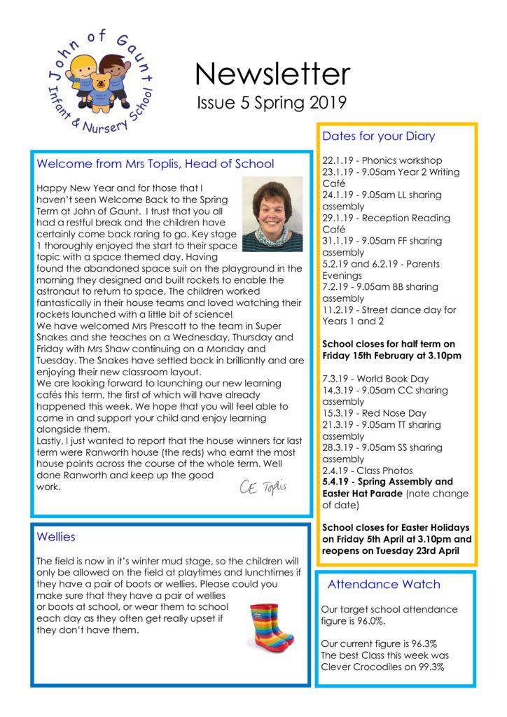 thumbnail of JOG Spring 19 Newsletter No 5