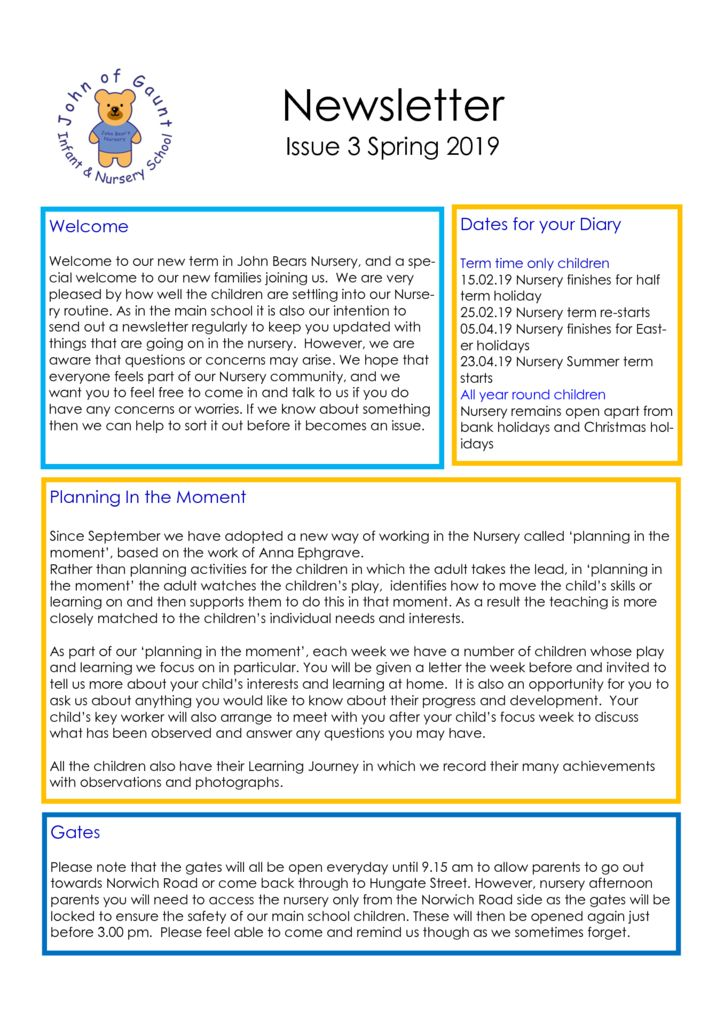 thumbnail of Spring 2019 Newsletter Issue 3