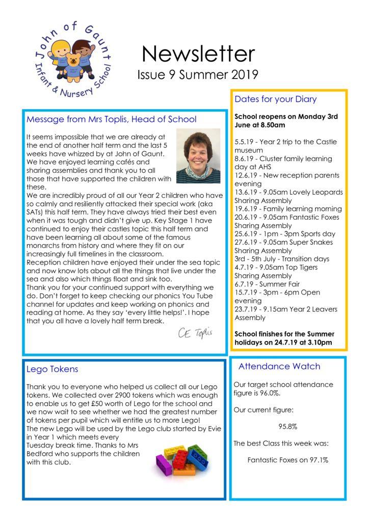 thumbnail of JOG Summer 19 Newsletter No 9