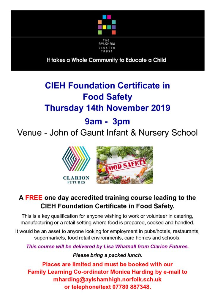 thumbnail of Food Safety Course Nov 2019