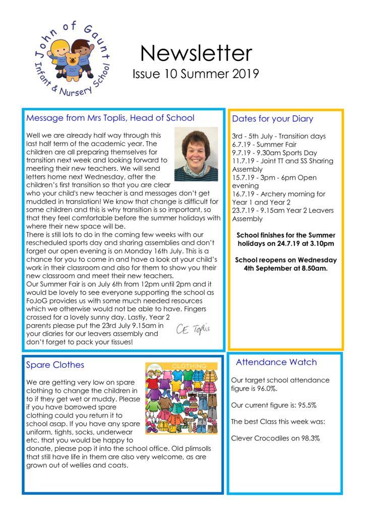 thumbnail of JOG Summer 19 Newsletter No 10