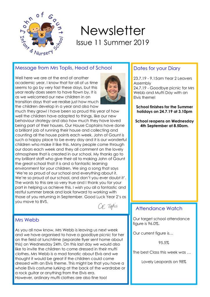 thumbnail of JOG Summer 19 Newsletter No 11