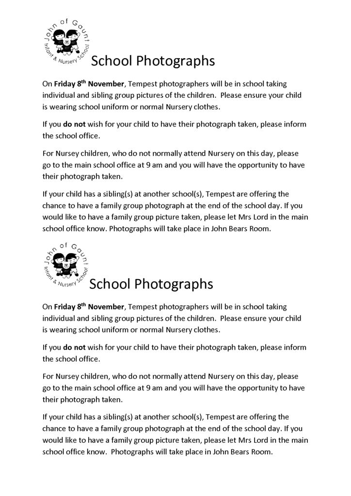 thumbnail of School Photos Flyer