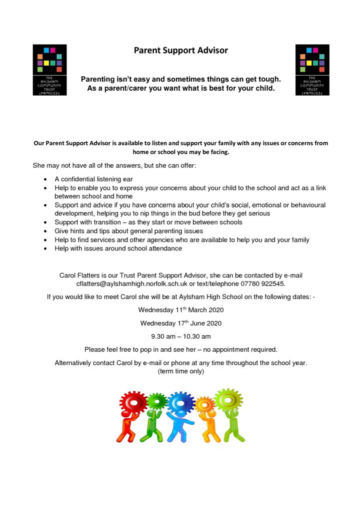 thumbnail of Parent Support Advisor flyer Spring and Summer 2020