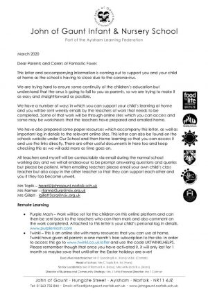 thumbnail of FF letter to parents re home learning