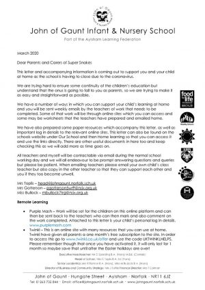 thumbnail of SS letter to parents re home learning