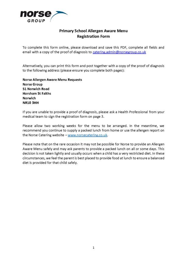 thumbnail of Primary-School-Allergen-Aware-Registration-Form-Editable-PDF