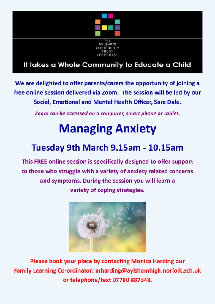 thumbnail of Managing Anxiety March 2021