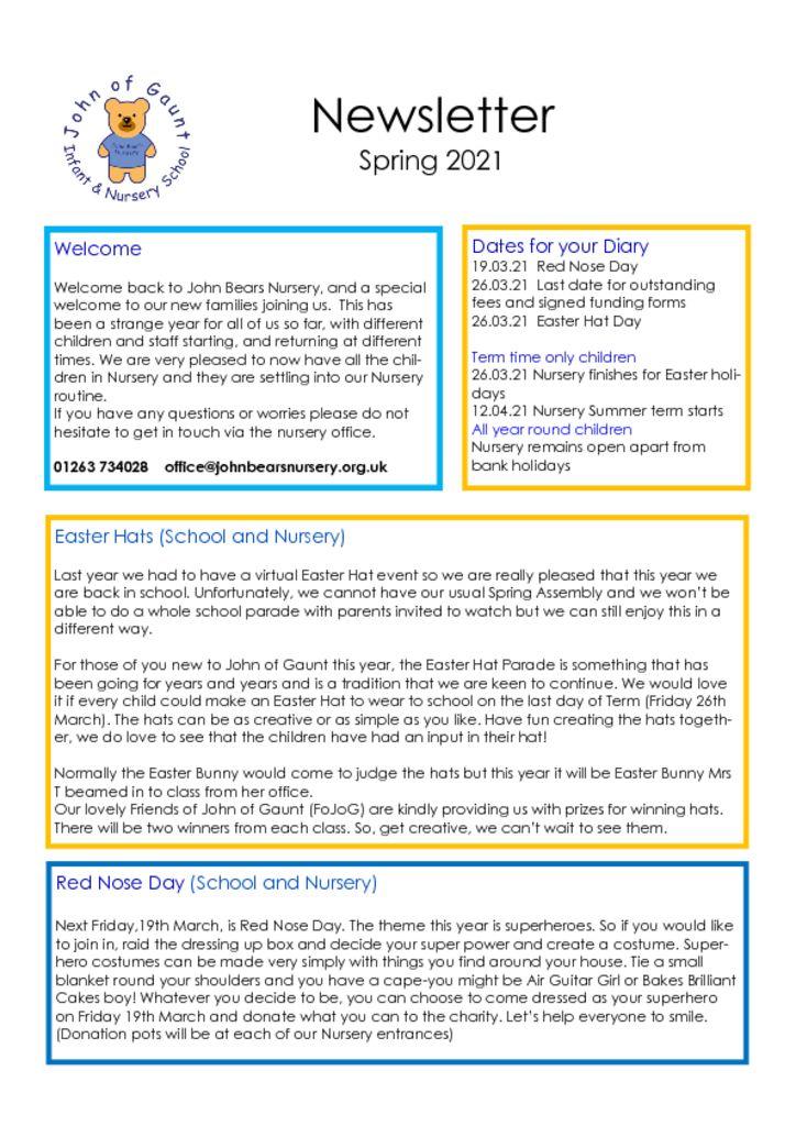thumbnail of Spring 2021 Newsletter