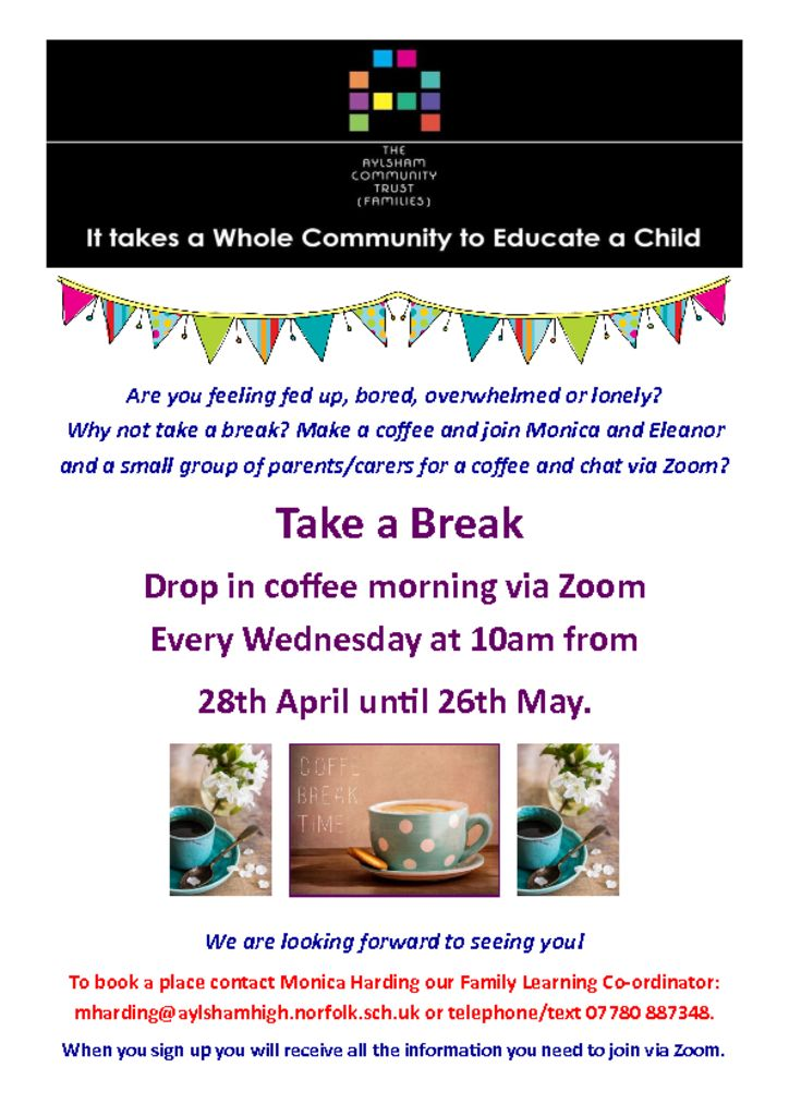 thumbnail of Coffee Morning up to May half term