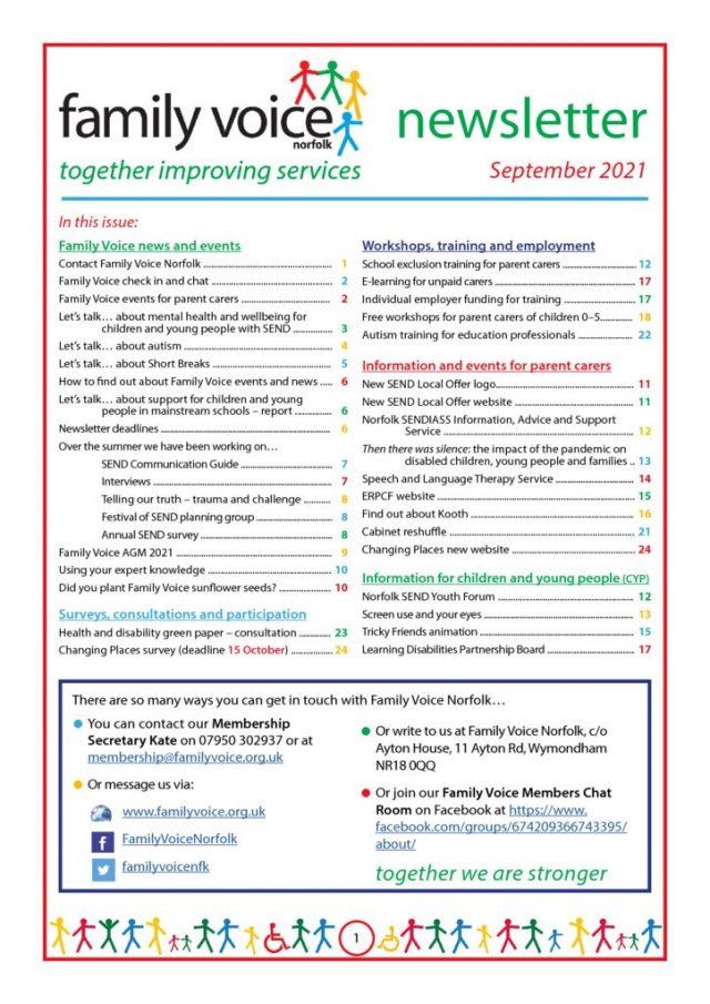 thumbnail of Family Voice newsletter September 2021